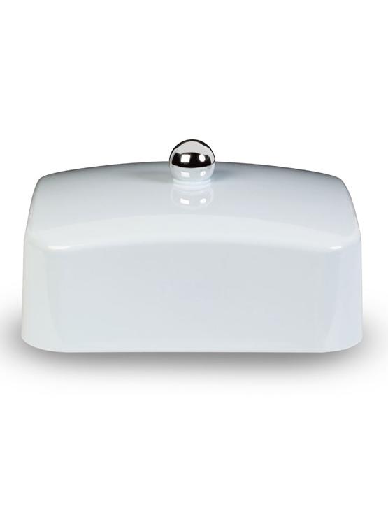 Blue butter dish lid