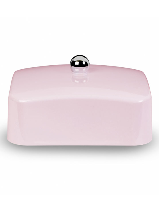 Pink butter dish lid