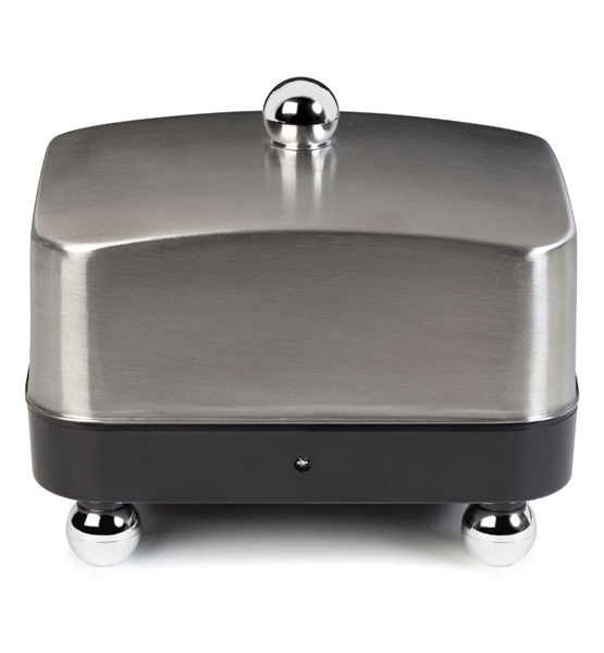 Stainless Steel with Black Base