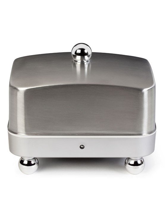 Stainless Steel with Silver Base