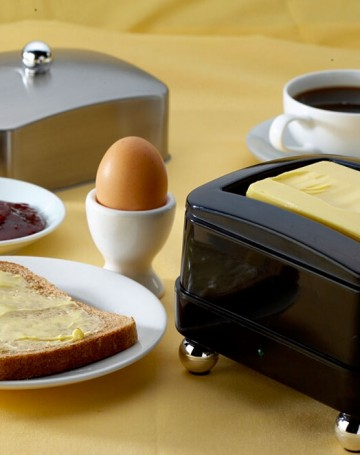 Temperature controlled butter dish