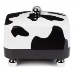 Cow print butter dish